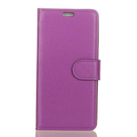 Cover Case for Samsung Galaxy J2 Pro 2018 Pure Color Litchi Leather - PURPLE