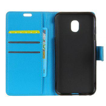 Cover Case for Samsung Galaxy J2 Pro 2018 Pure Color Litchi Leather - BLUE