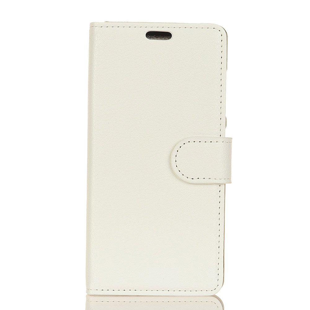 Cover Case for Samsung Galaxy J2 Pro 2018 Pure Color Litchi Leather - WHITE