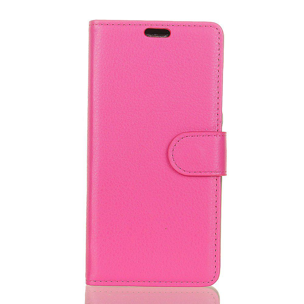 Cover Case for Samsung Galaxy J2 Pro 2018 Pure Color Litchi Leather - ROSE RED