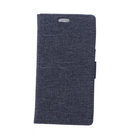 Cover Case for Samsung Galaxy J2 Pro 2018 Solid Color Linen Texture Holster - BLACK