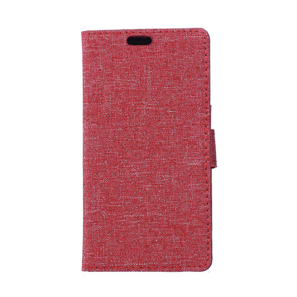 Cover Case for Samsung Galaxy J2 Pro 2018 Solid Color Linen Texture Holster - RED