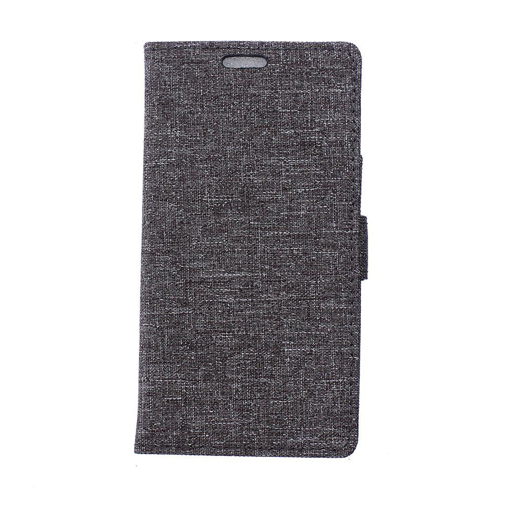 Cover Case for Samsung Galaxy J2 Pro 2018 Solid Color Linen Texture Holster - GRAY