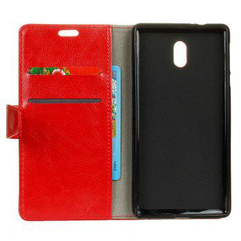 Cover Case for Samsung Galaxy J2 Pro 2018 Pure Color Crystal Texture Leather - RED
