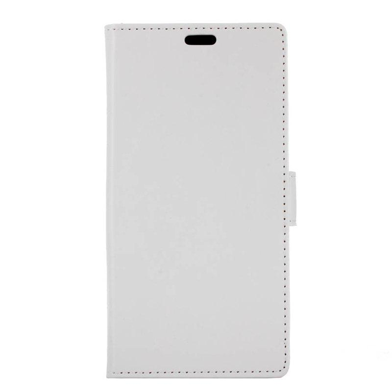 Cover Case for Samsung Galaxy J2 Pro 2018 Pure Color Crystal Texture Leather - WHITE