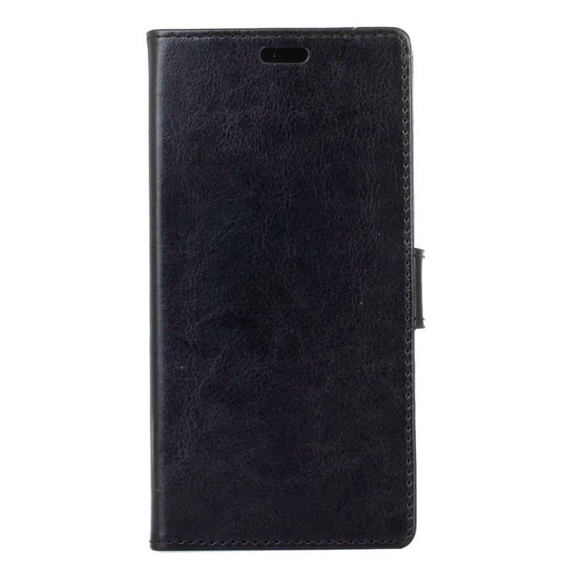 Cover Case for Samsung Galaxy J2 Pro 2018 Pure Color Crystal Texture Leather - BLACK