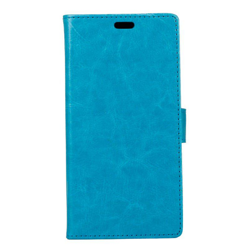 Cover Case for Samsung Galaxy J2 Pro 2018 Pure Color Crystal Texture Leather - BLUE