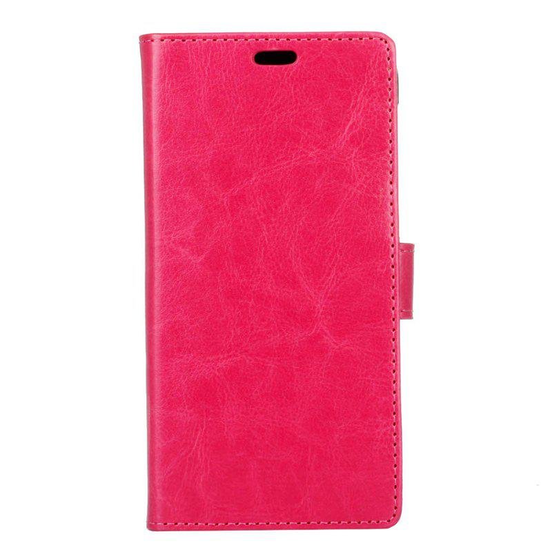 Cover Case for Samsung Galaxy J2 Pro 2018 Pure Color Crystal Texture Leather - ROSE RED