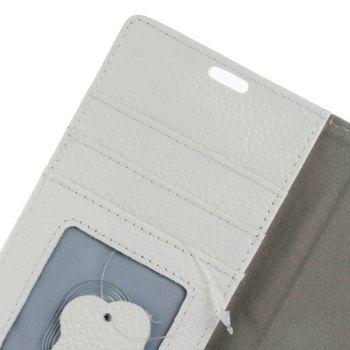 Cover Case for Samsung Galaxy J2 Pro 2018 Solid Color Business Leather - WHITE