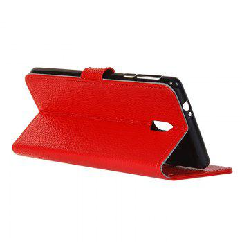 Cover Case for Samsung Galaxy J2 Pro 2018 Solid Color Business Leather - RED
