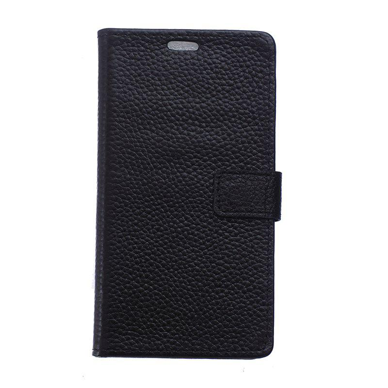Cover Case for Samsung Galaxy J2 Pro 2018 Solid Color Business Leather - BLACK
