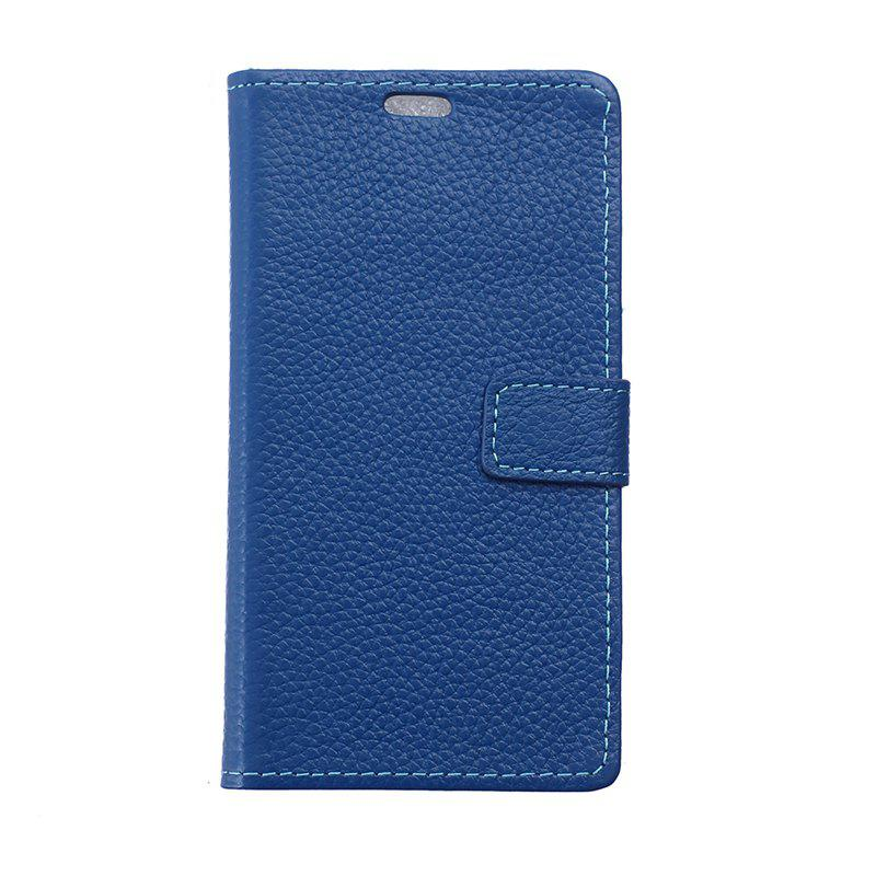 Cover Case for Samsung Galaxy J2 Pro 2018 Solid Color Business Leather - BLUE