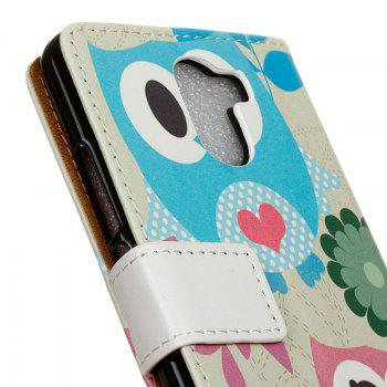 Cover Case for Samsung Galaxy S9 PLUS Painted Tone Leather - BLUE/PINK