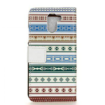 Cover Case for Samsung Galaxy S9 PLUS Painted Tone Leather - BLUE/GREEN