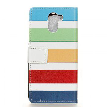 Cover Case for Samsung Galaxy S9 PLUS Painted Tone Leather - BLUE/YELLOW/GREEN