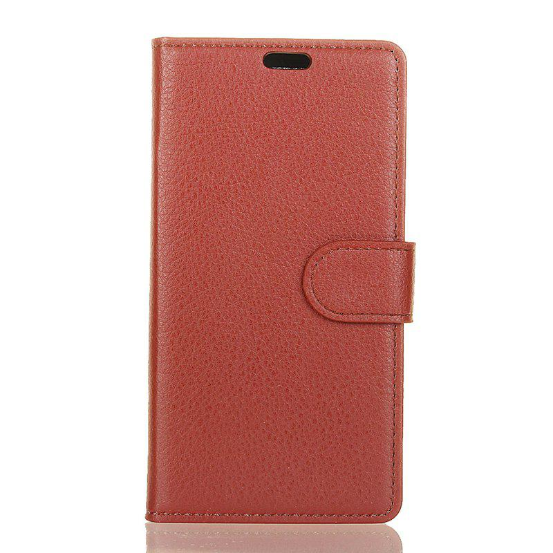 Cover Case for Samsung Galaxy S9 PLUS Pure Color Litchi Leather - BROWN
