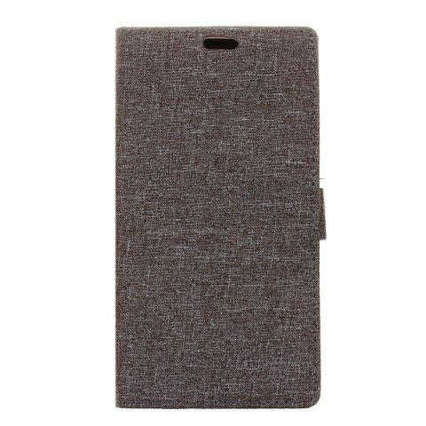 Cover Case for Samsung Galaxy S9 PLUS Solid Color Linen Texture Holster - GRAY