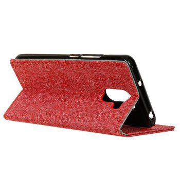 Cover Case for Samsung Galaxy S9 PLUS Solid Color Linen Texture Holster - RED