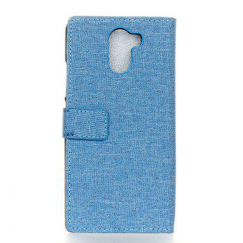 Cover Case for Samsung Galaxy S9 PLUS Solid Color Linen Texture Holster - BLUE