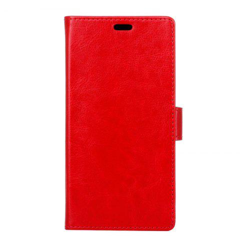 Cover Case for Samsung Galaxy S9 PLUS Pure Color Crystal Texture Leather - RED