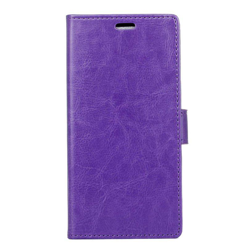 Cover Case for Samsung Galaxy S9 PLUS Pure Color Crystal Texture Leather - PURPLE
