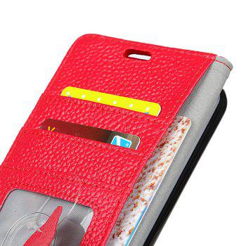 Cover Case for Samsung Galaxy S9 PLUS Solid Color Business Leather - BRIGHT RED