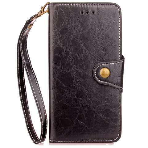 Vintage     Wax Oil Card Lanyard Pu Leather Cover for Xiaomi 5X - BLACK
