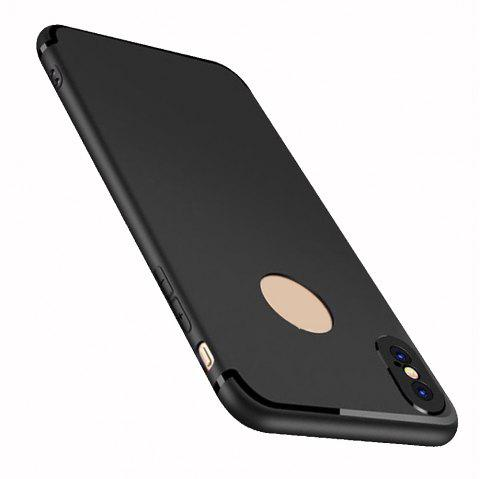 Case for iPhone X Case Cover Frosted Back Cover Case Solid Color Soft Silicone - BLACK