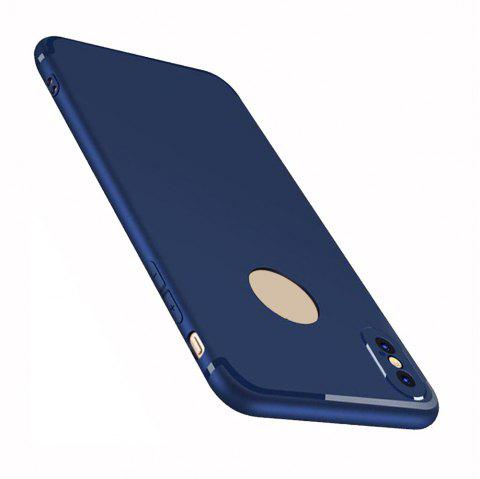Case for iPhone X Case Cover Frosted Back Cover Case Solid Color Soft Silicone - BLUE