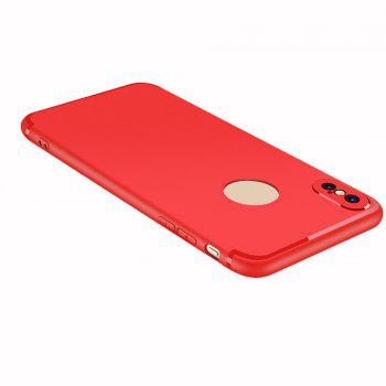 Case for iPhone X Case Cover Frosted Back Cover Case Solid Color Soft Silicone - RED