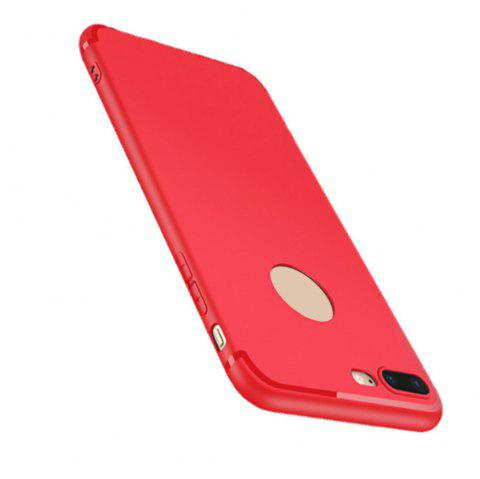 Case for iPhone 7 Plus Case Cover Frosted Back Cover Case Solid Color Soft Silicone - RED