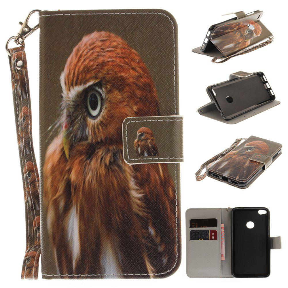 Housse de protection pour Huawei P8 Lite 2017 Young Eagles PU + TPU en cuir avec support et fentes pour cartes Magnetic Closure - multicolorcolore