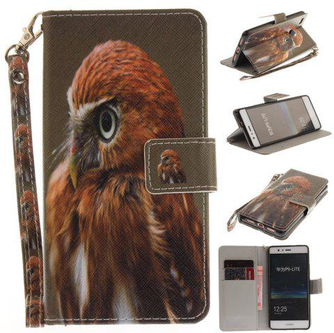Housse de protection pour Huawei P9 Lite Young Eagles PU + TPU en cuir avec support et fentes pour cartes Magnetic Closure - multicolore