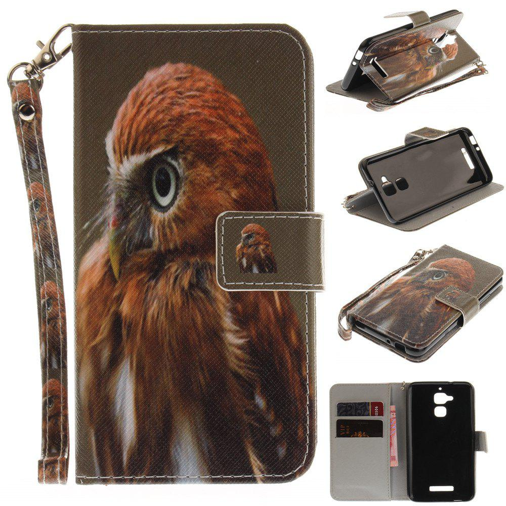 Housse de protection pour ASUS Zenfone 3 Max ZC520TL Young Eagles PU + TPU en cuir avec support et fentes pour cartes Magnetic Closure - multicolore