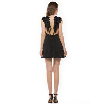 New Stereo Angel Wing Strap Dress - BLACK XL