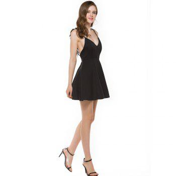 New Stereo Angel Wing Strap Dress - BLACK L