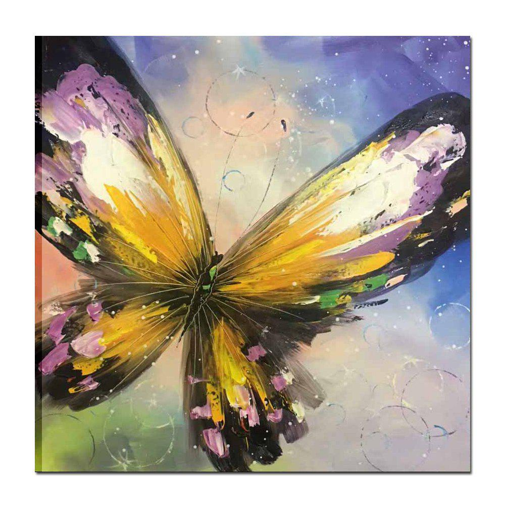 2018 Hand Painted Abstract Colorful Butterfly Oil Painting on Canvas ...