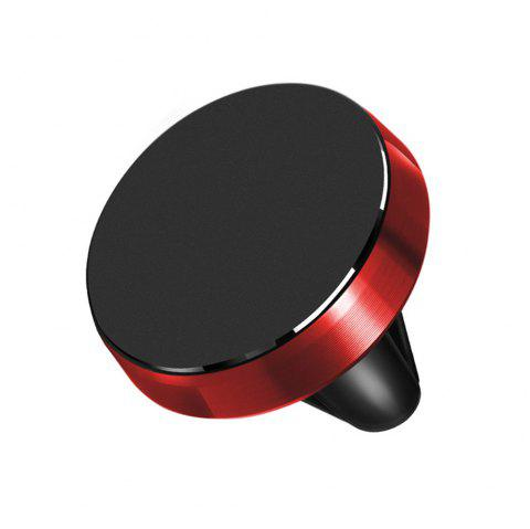360 Rotation Universal Car Phone Holder Magnetic Air Vent Mount Stand for Mobile Phone - RED