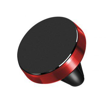 360 Rotation Universal Car Phone Holder Magnetic Air Vent Mount Stand for Mobile Phone - RED RED