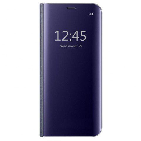 Case Cover for Huawei Mate 10 Lite With Stand Plating Mirror Flip Auto Sleep Wake Up Full Body Solid Color Hard - DEEP BLUE