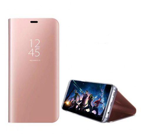 Case Cover for Huawei Maimang 6 With Stand Plating Mirror Flip Auto Sleep Wake Up Full Body Solid Color Hard - ROSE GOLD