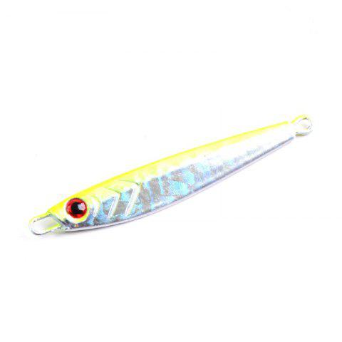 Metal Spoon Fishing Lures Artificial Fake Bait 7G 5CM 5 Pieces - YELLOW