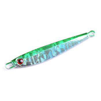 Metal Spoon Fishing Lures Artificial Fake Bait 7G 5CM 5 Pieces - GREEN GREEN