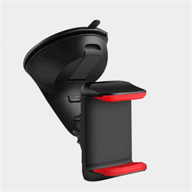 Multi-function silicone sucker vehicle mounts - BLACK/RED