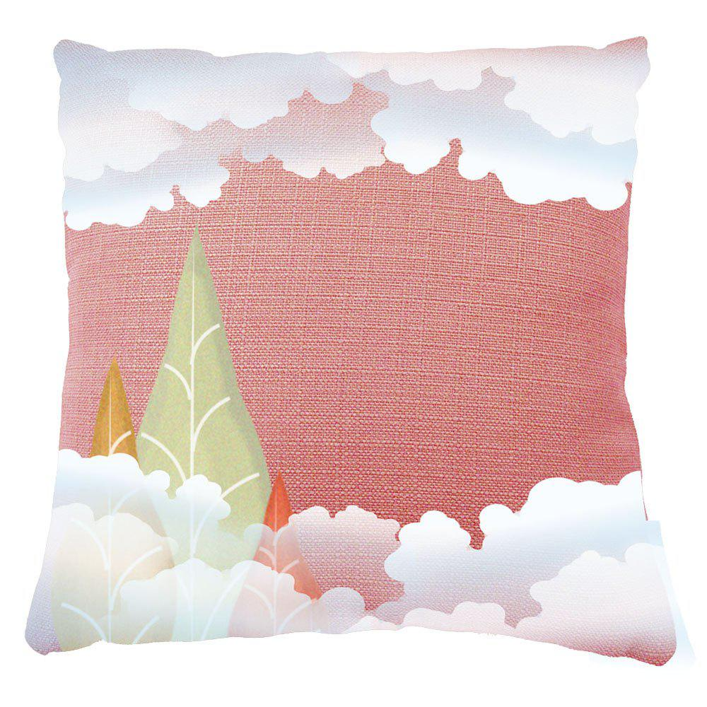 Home Decor White Clouds Print Pillow Cases - MIXCOLOR 16INCH*16INCH
