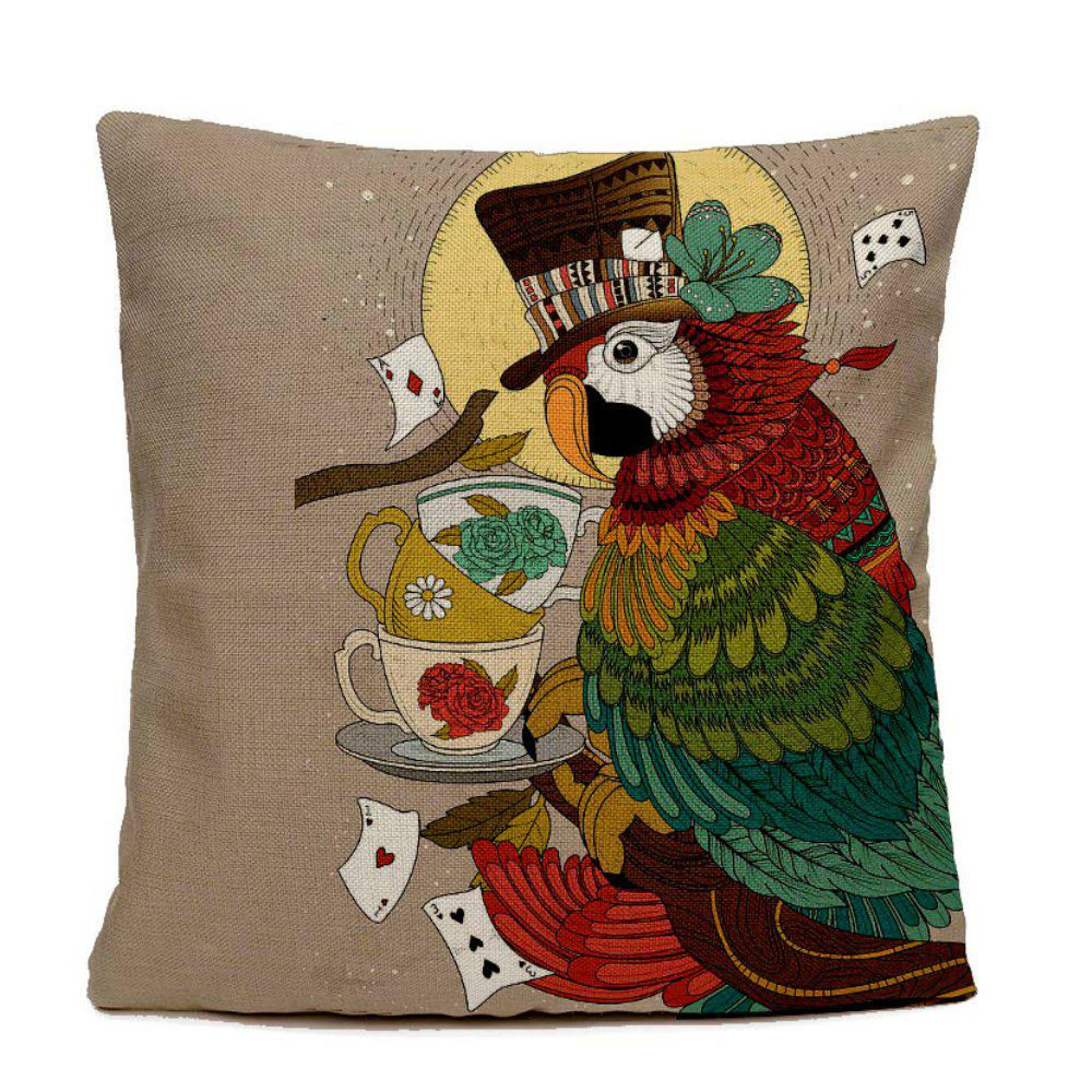 Hand-painted Parrot Home Decoration Pillow Covers - COLORMIX 16INCHX16INCH