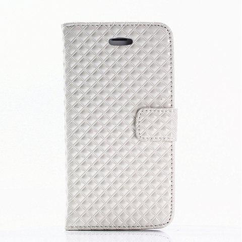 Cover Case for iPhone 7 / 8 Fine Rhombic Leather - WHITE