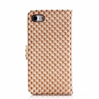 Cover Case for iPhone 7 / 8 Fine Rhombic Leather - GOLDEN