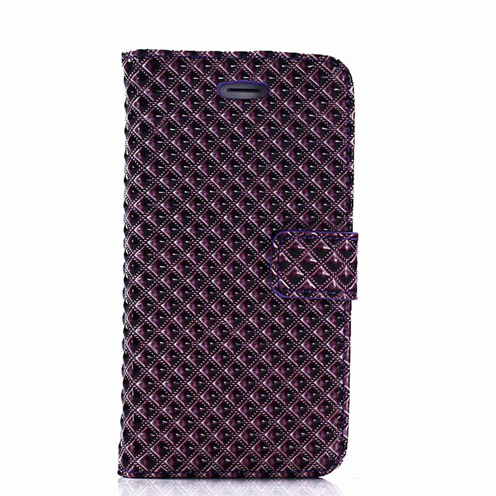 Cover Case for iPhone 7 / 8 Fine Rhombic Leather - PURPLE