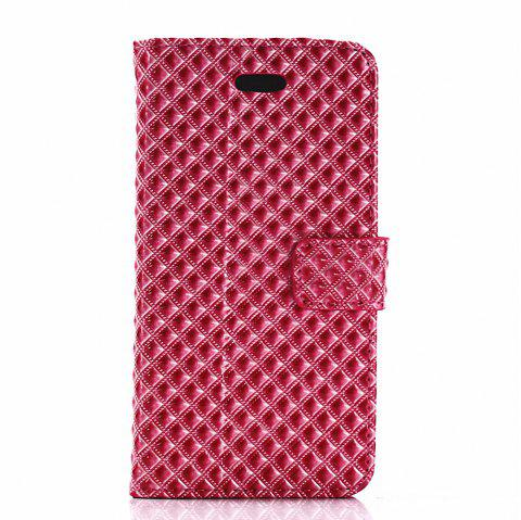 Cover Case for iPhone X Fine Rhombic Leather - RED
